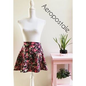 Aeropostale Mini Skirt Floral Stretch Size XS